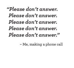 Don't Answer Card