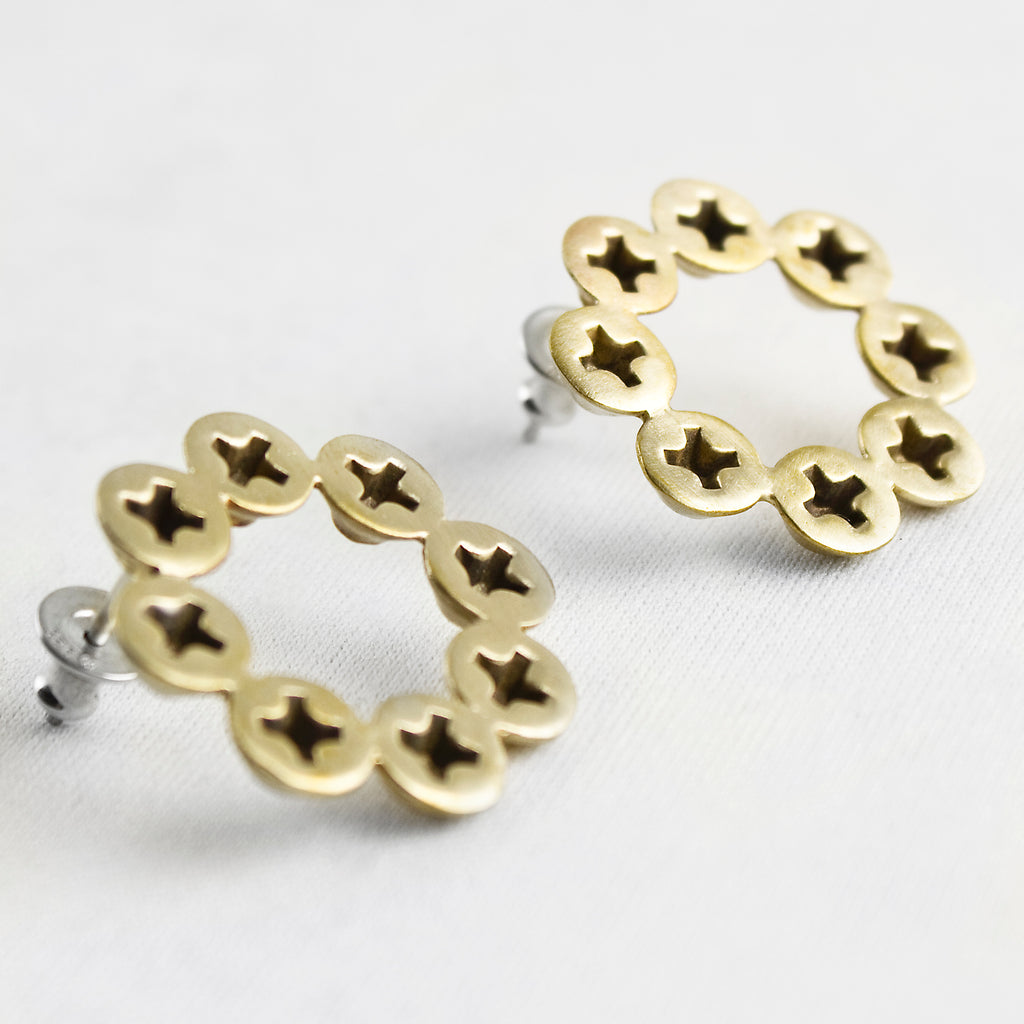 Screw Circle Earrings