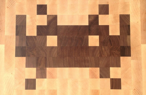 Space Invaders Handmade Cutting Board