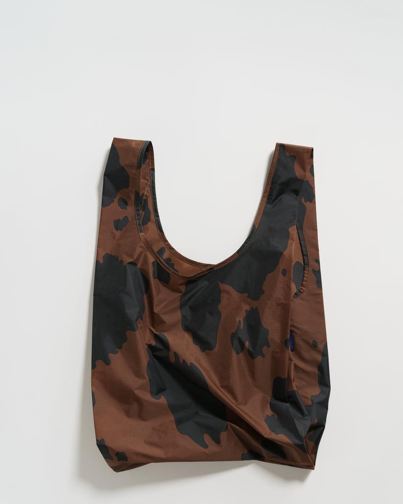 Baggu Reusable Bag - Cow (Black and Brown)