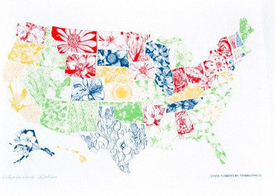 State Flower Collection Print