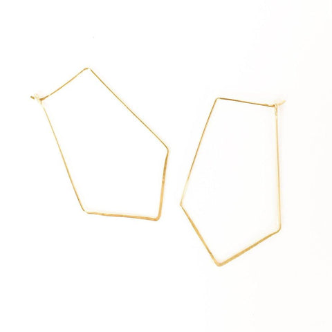 Esther Badge Hoop Earrings
