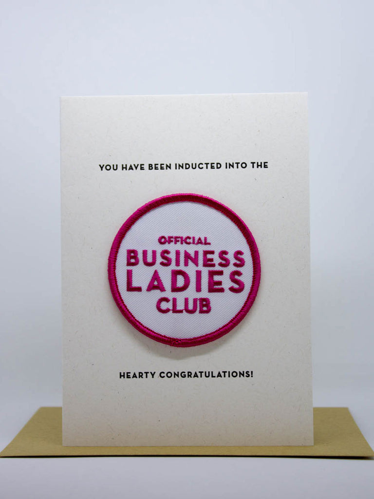 Business Lady Club Card & Patch