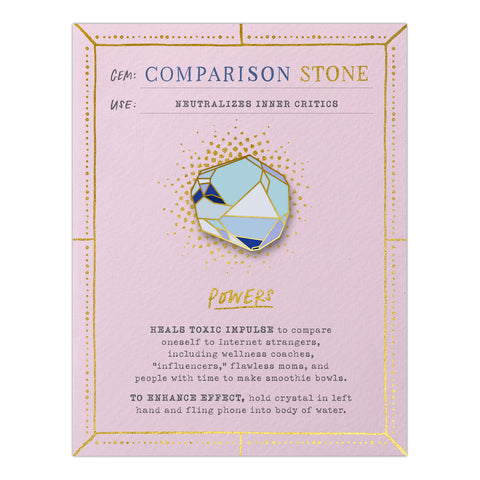 Comparison Stone Gem Card w/ Pin