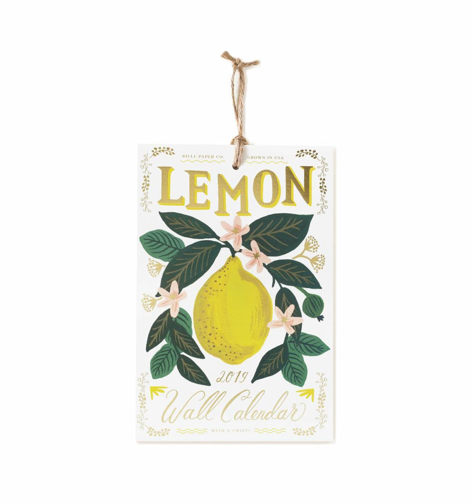 Lemon Wall Calendar