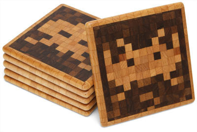 Space Invaders Handmade Coasters
