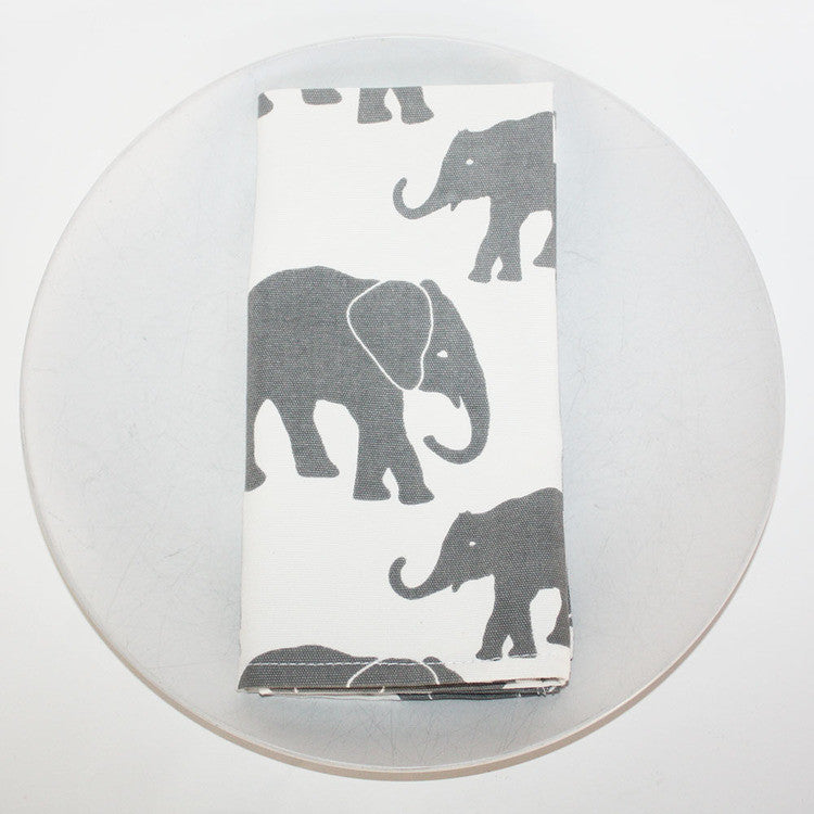 Napkin Set (4) - Organic Cotton Elephants