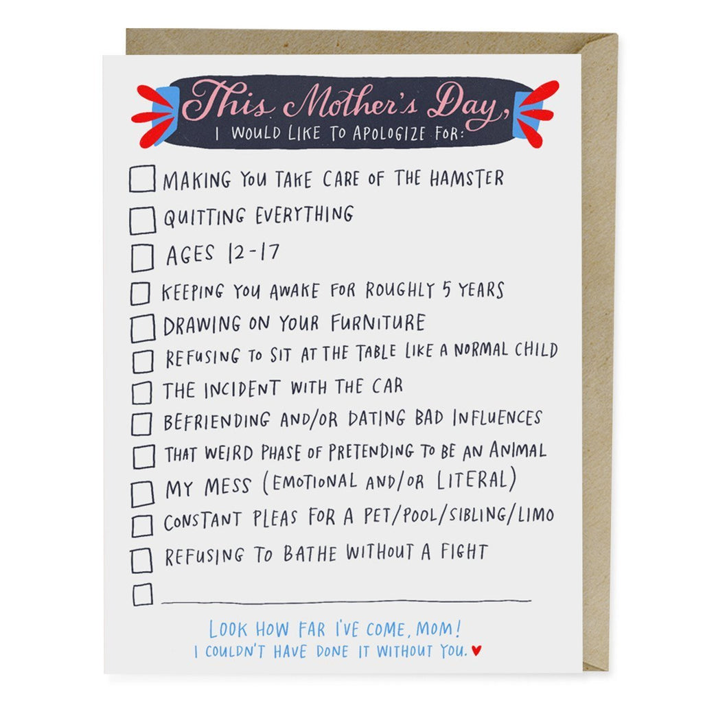 Checklist Mother's Day