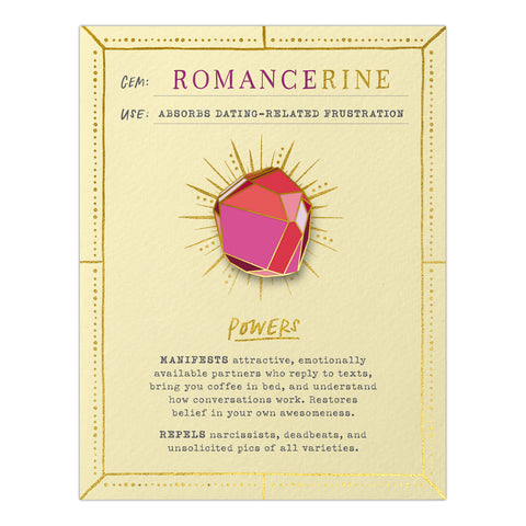 Romancerine Gem Card w/ Pin