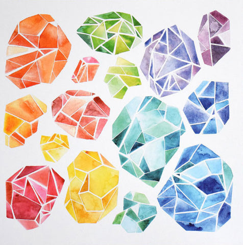 Gemstones Screenprint