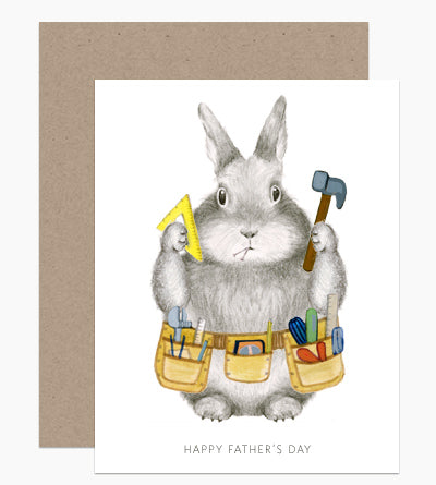 Bunny Dad Card
