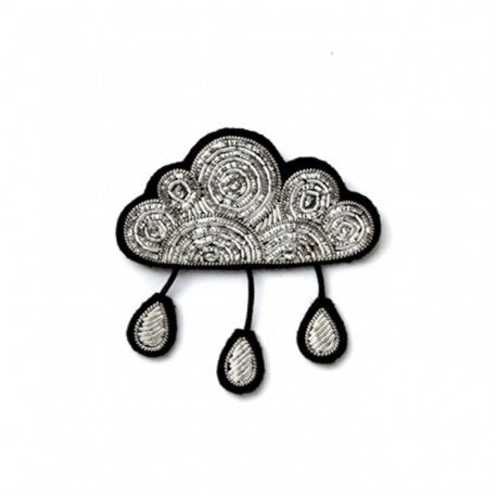 Silver Cloud with Drops Pin