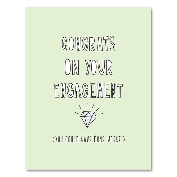 Congrats Engagement Card