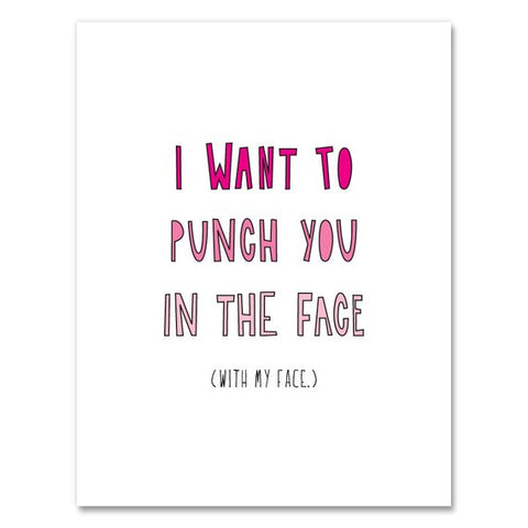 Punch You in the Face Card