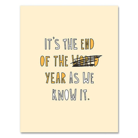 End of the Year  Card