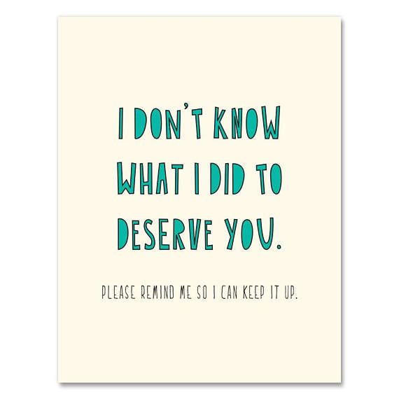Deserve You  Card