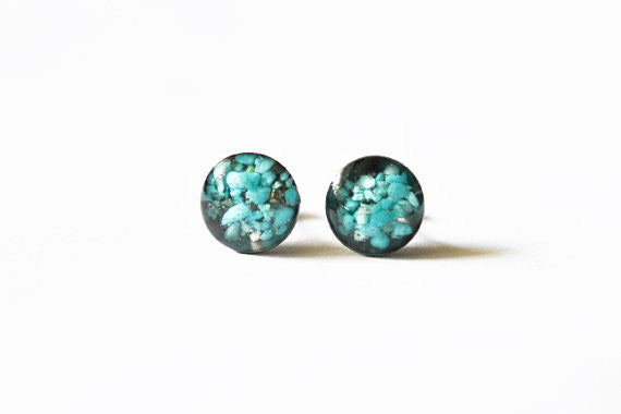Turquoise and Resin Studs