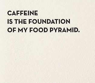 Caffeine Letterpress Card