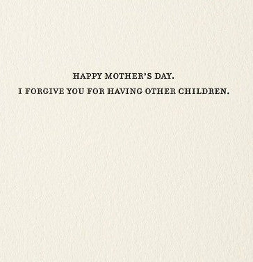 Mother's Day Forgiveness Card