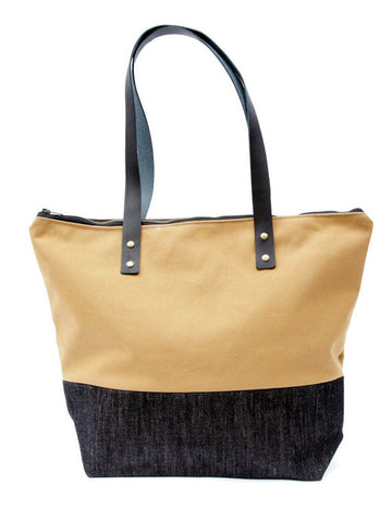 Tote Bag - Camel/Black