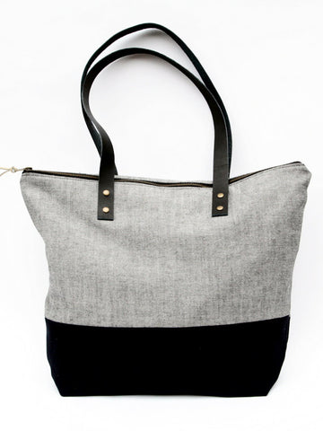 Tote Bag - Grey/Black