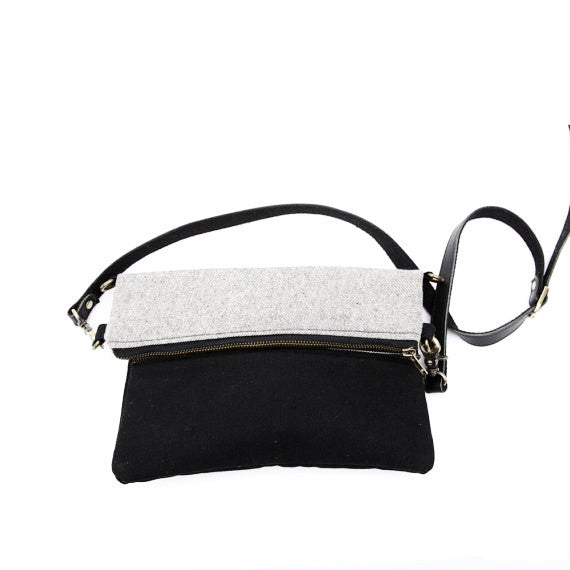 Cross body Bag - Grey/Black