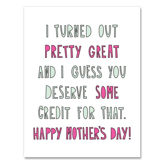 Pretty Great Mom Card