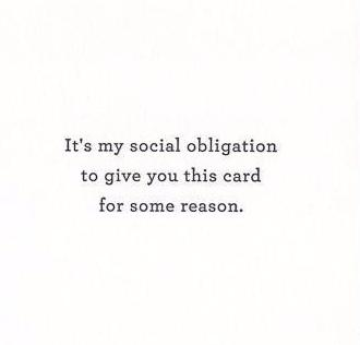 Social Obligation Card