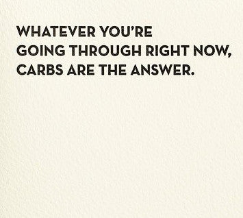 Carbs Card