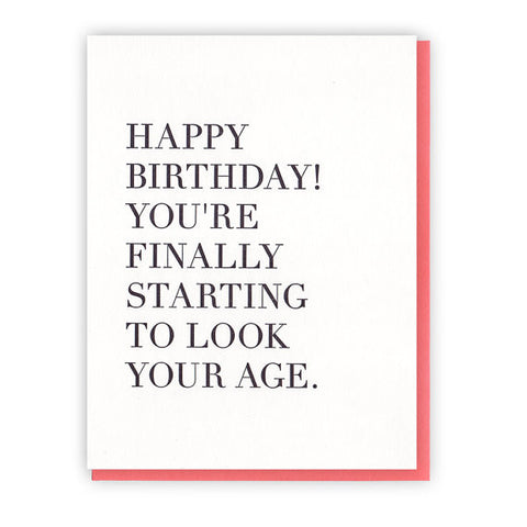 Birthday Age Card