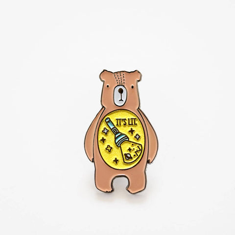 Lit Camp Bear Pin