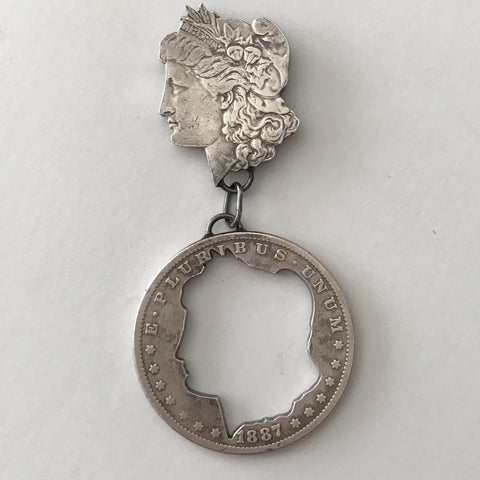 Escaped Morgan Dollar Pin
