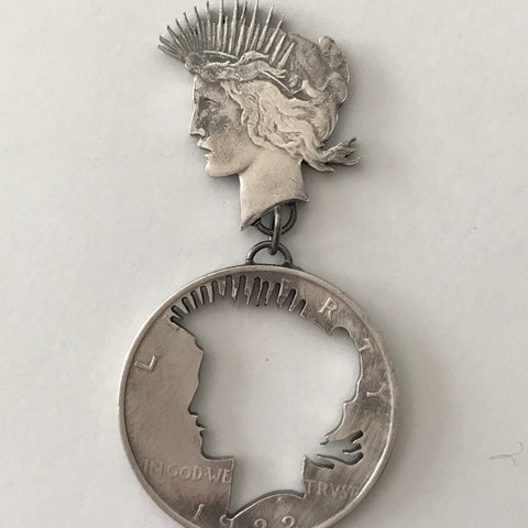 Escaped Peace Dollar Pin
