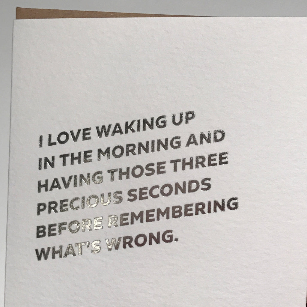 Precious Seconds Letterpress Card