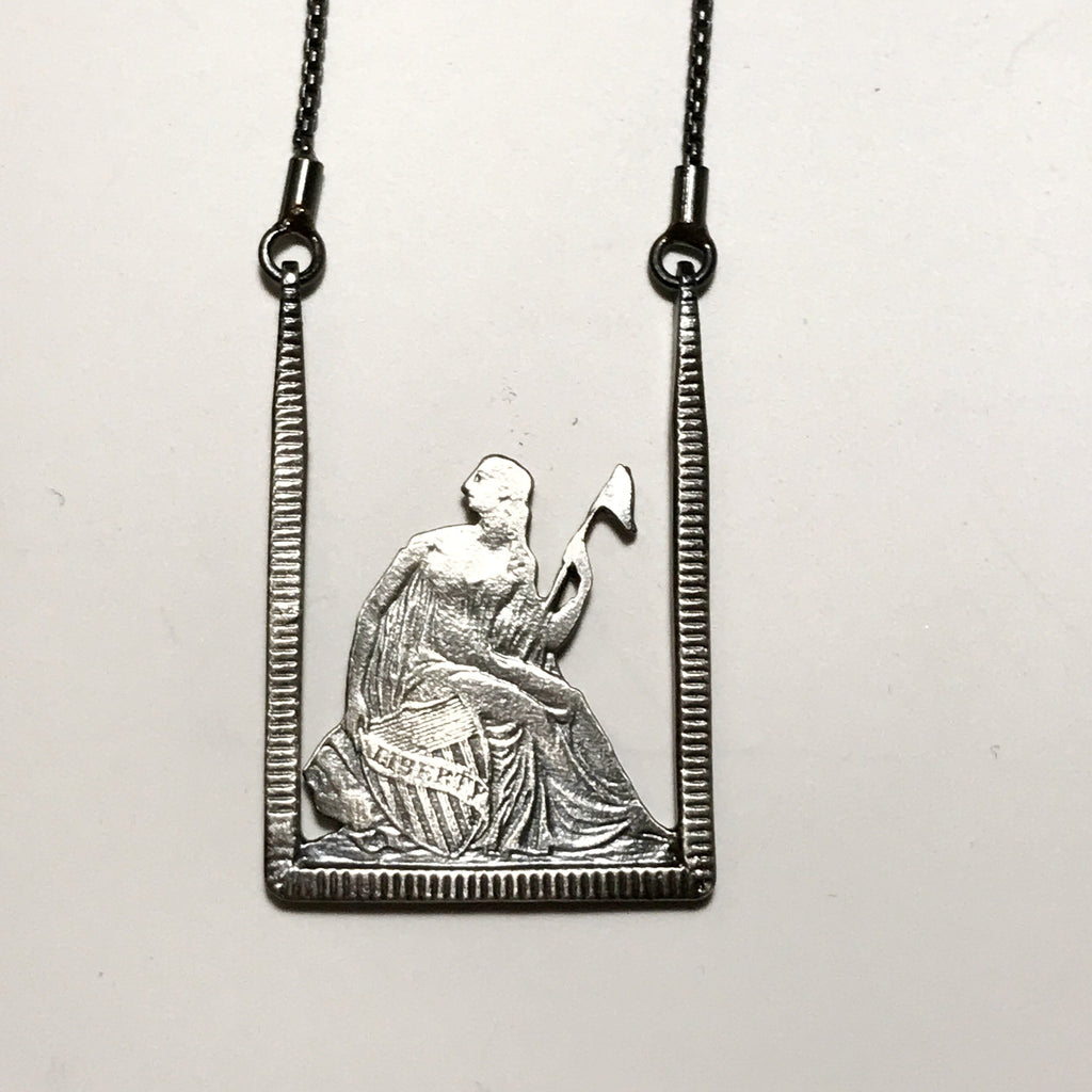 Sitting Liberty Necklace