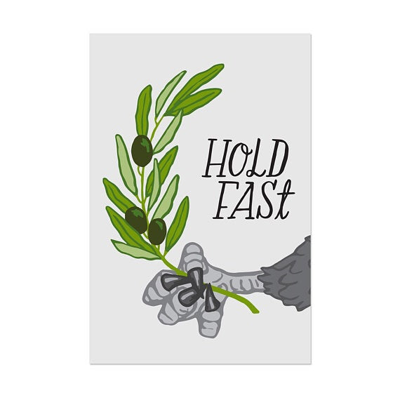 Hold Fast - Eagle & Olive Branch Post Card