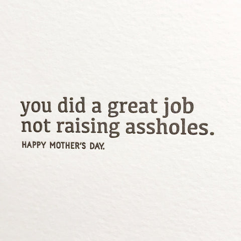 Great Job Mother's Day Card