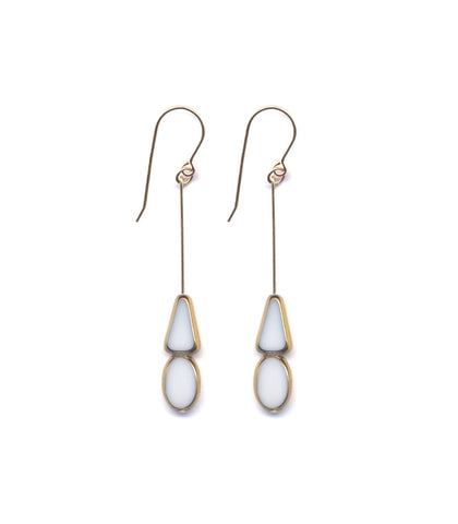 White Hat Drop Earrings