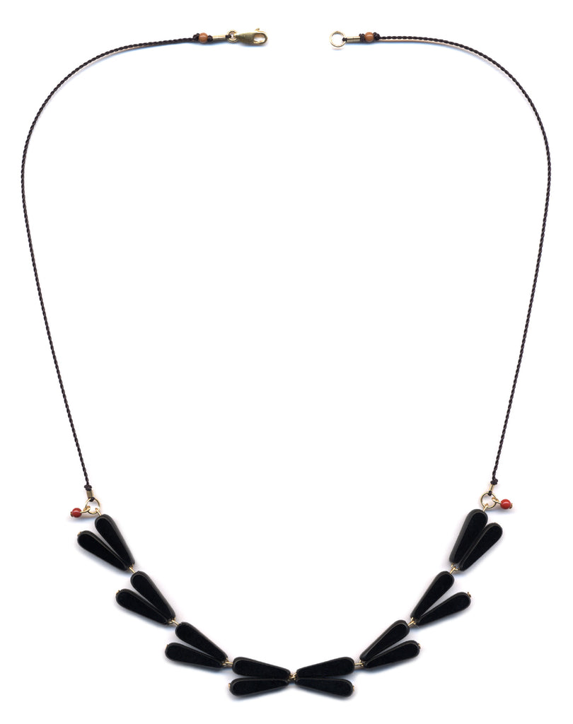 Black Laurel Necklace