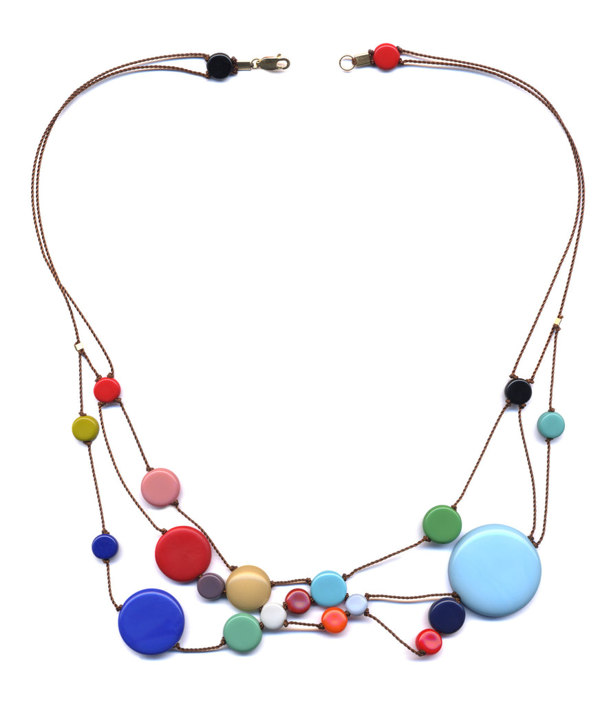Solar System Glass Necklace
