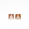 Square Triangle Stud Earrings - Soft Gold