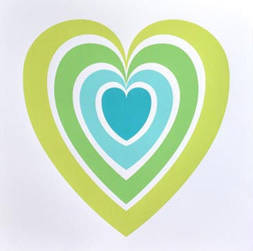 Heart Screenprint - Green