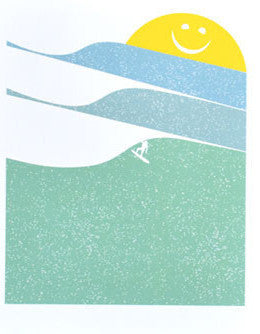 Sunny Surfing Print