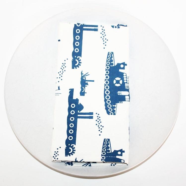 Napkin Set (4) - Organic Cotton Tugboats