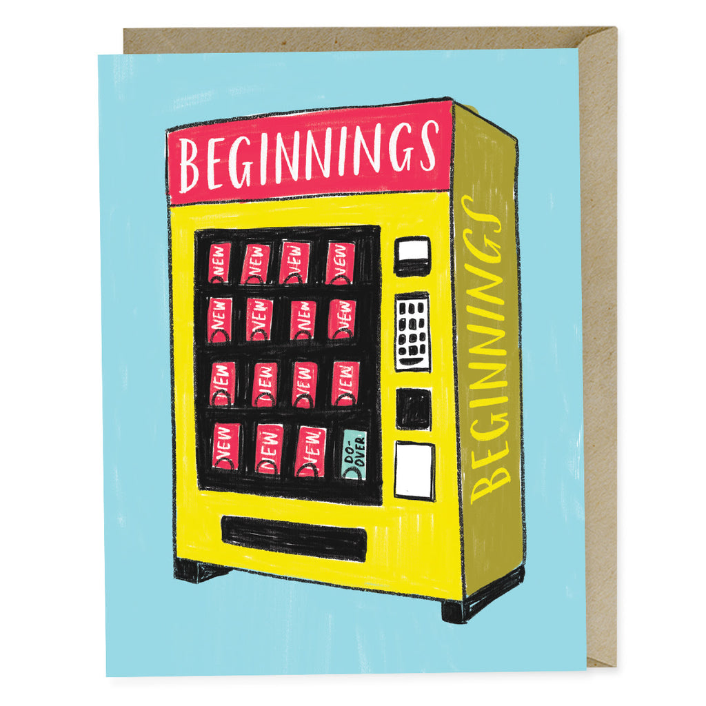 New Beginnings Vending Machine Card