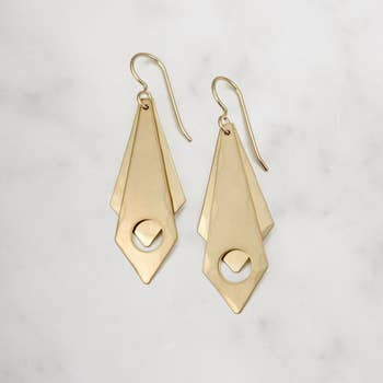 Mira Brass Earrings