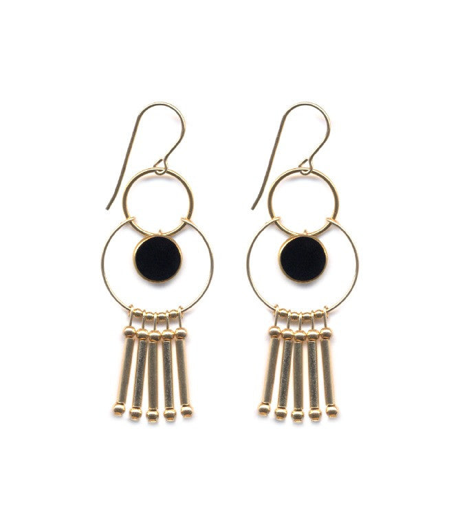 Fringe Dream 24k Hoop Earrings