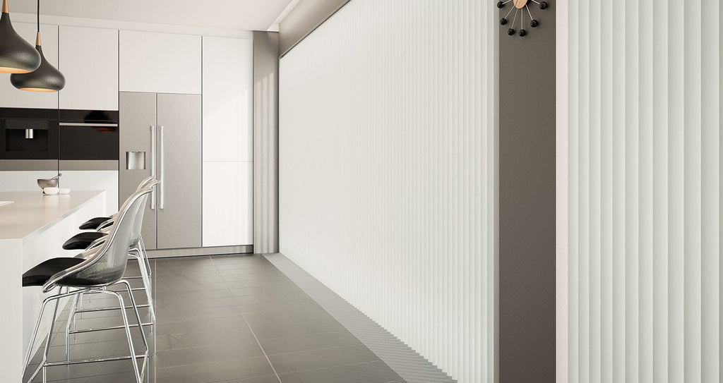 Splash Vertical Blinds - Butter - Conservatory Blinds Direct