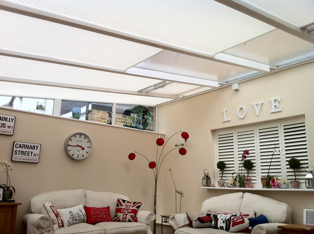 Hive Matrix Blackout Cream - Conservatory Blinds Direct