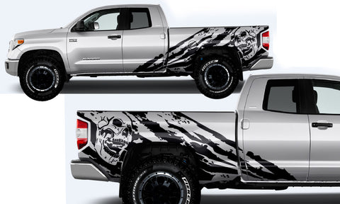 Toyota Tundra (2014-2016) DOUBLE CAB Custom Full Body Decal Kit NIGHTMARE